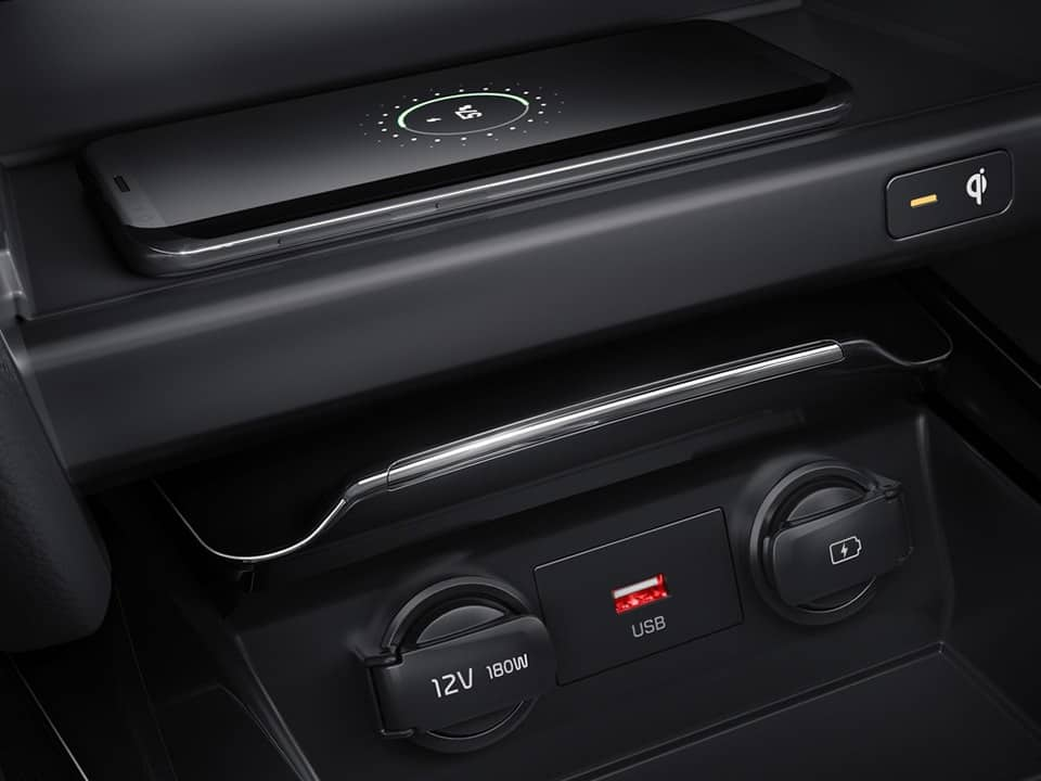 kia ceed wireless phone charger